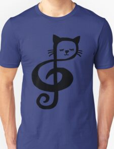 Treble-Clef Cat Unisex T-Shirt