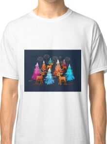 Happy Christmas Trees Classic T-Shirt