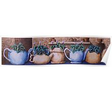Teapots On Parade Poster