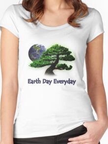 Earth Day Everyday Women's Fitted Scoop T-Shirt