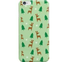 Reindeer Forest In Mint iPhone Case/Skin