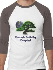 Celebrate Earth Day Everyday Men's Baseball ¾ T-Shirt