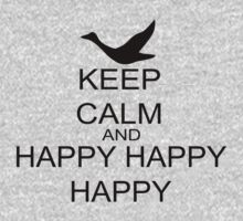 Keep Calm And Happy Happy Happy One Piece - Short Sleeve