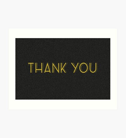 thank you cards Art Print