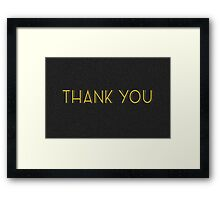 thank you cards Framed Print