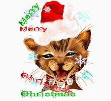 Christmas Ginger Kitty Womens Fitted T-Shirt