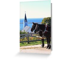 Horse Carriage With a View Greeting Card