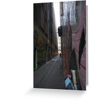 Graffiti Melbourne Alley Greeting Card