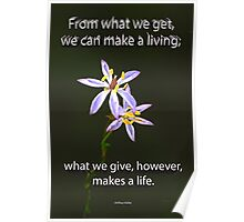 What we give  Poster