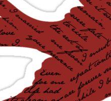 Jane Eyre Bird  Sticker