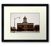 Route 66 - Beckham County Courthouse Framed Print