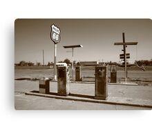 Route 66 Gas Pumps Canvas Print
