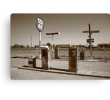 Route 66 Gas Pumps Canvas Print