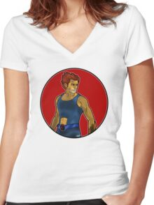 Lion-O, Lord of the Thundercats Women's Fitted V-Neck T-Shirt