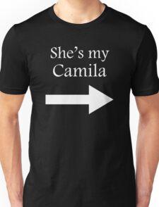 She's my Camila > white on black Unisex T-Shirt