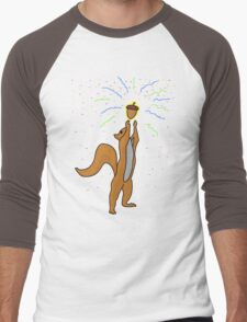 Party Nut Men's Baseball ¾ T-Shirt