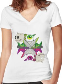 Inverse Women's Fitted V-Neck T-Shirt