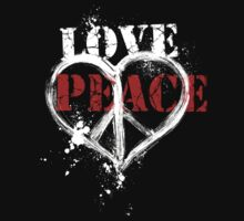 Love and Peace Symbol Heart T-Shirt