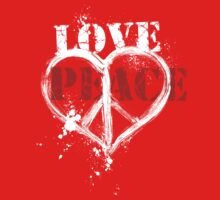 Love and Peace Symbol Heart Kids Clothes