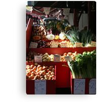Vegetable stall Canvas Print