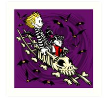 Calvydia and Beetlehobbes (Dark Shirts) Art Print