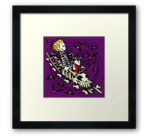 Calvydia and Beetlehobbes (Dark Shirts) Framed Print