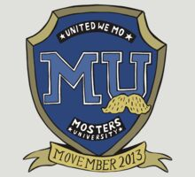 mosters university team shirt  by kat sibly