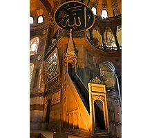 The Mimber, Hagia Sophia Photographic Print