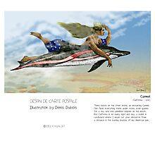 """Carmel"" in words & image (Denis Dubois) Photographic Print"