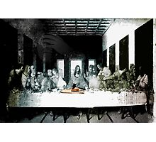 Long Discussions on the Subject of the Justice in Breaking Bread Photographic Print