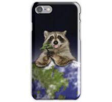 Earth Day Raccoon iPhone Case/Skin