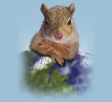 Earth Day Squirrel Baby Tee
