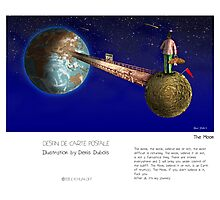"""""""The Moon"""" in words & image (Denis Dubois) Photographic Print"""