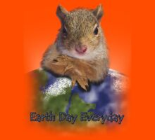 Earth Day Everyday Squirrel Kids Tee