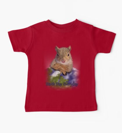 Earth Day Everyday Squirrel Baby Tee