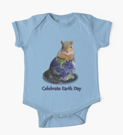 Celebrate Earth Day Squirrel One Piece - Short Sleeve