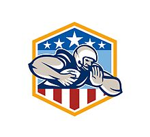 American Football Running Back Fend-Off Crest by patrimonio