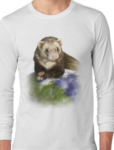 Earth Day Ferret Long Sleeve T-Shirt
