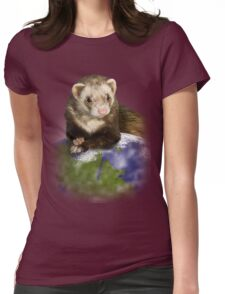 Earth Day Ferret Womens Fitted T-Shirt