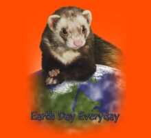 Earth Day Everyday Ferret Kids Tee