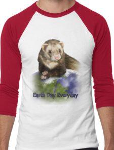 Earth Day Everyday Ferret Men's Baseball ¾ T-Shirt