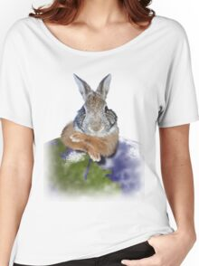 Earth Day Bunny Rabbit Women's Relaxed Fit T-Shirt