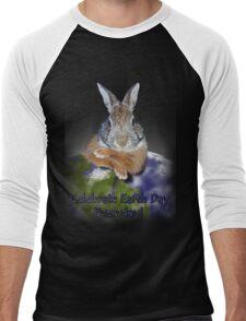 Celebrate Earth Day Everyday Rabbit Men's Baseball ¾ T-Shirt
