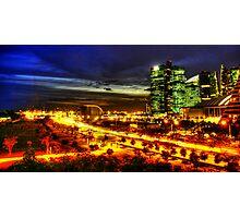 Highway, Urban Landscape Singapore Photographic Print