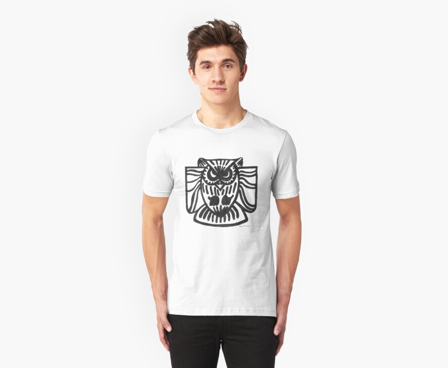 LINEart T-shirt : The Owl by LINEart
