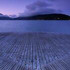 Purple dawn on Annecy lake by Patrick Morand