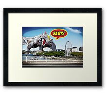 Godzilla attacks! Framed Print