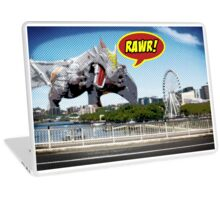 Godzilla attacks! Laptop Skin
