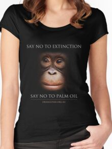 Say No to Extinction Women's Fitted Scoop T-Shirt