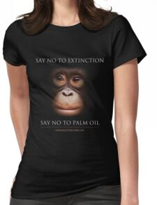 Say No to Extinction Womens Fitted T-Shirt